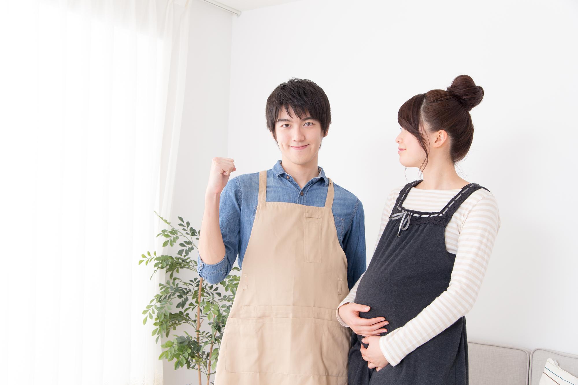妊婦の妻と夫