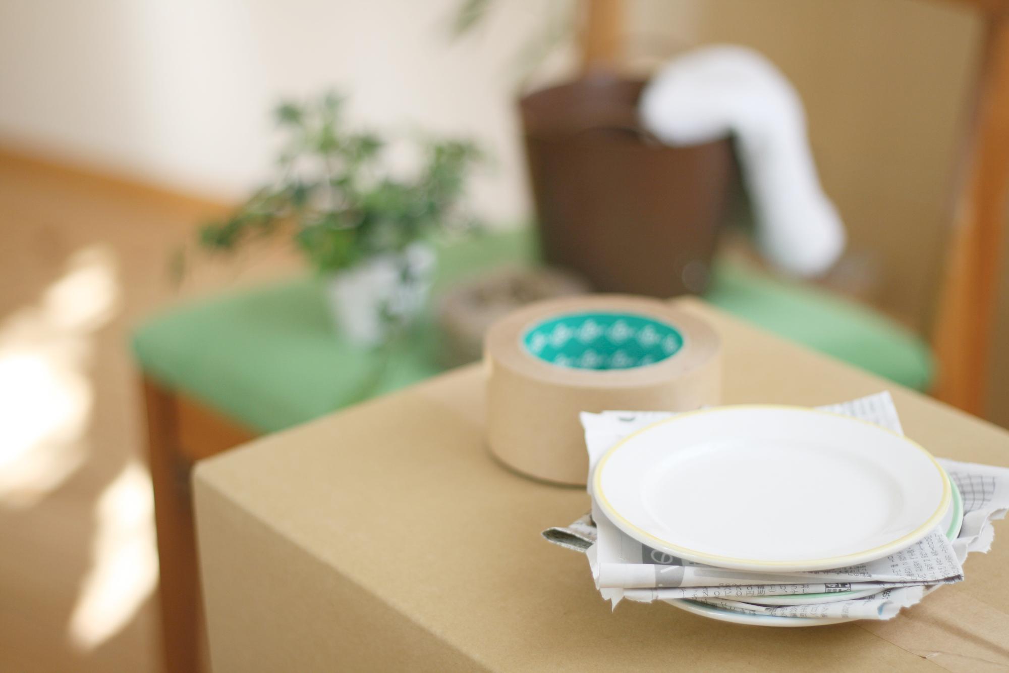 食器の梱包