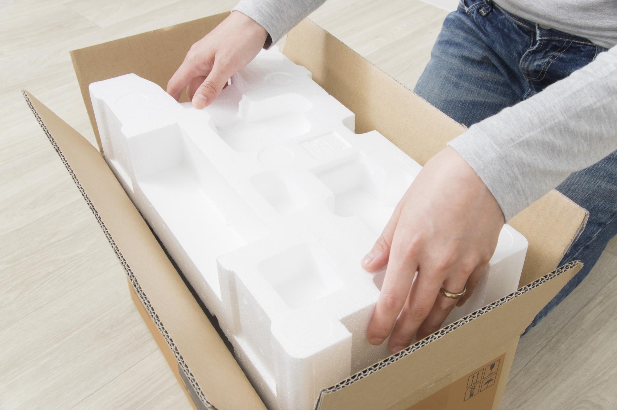 電解製品の梱包