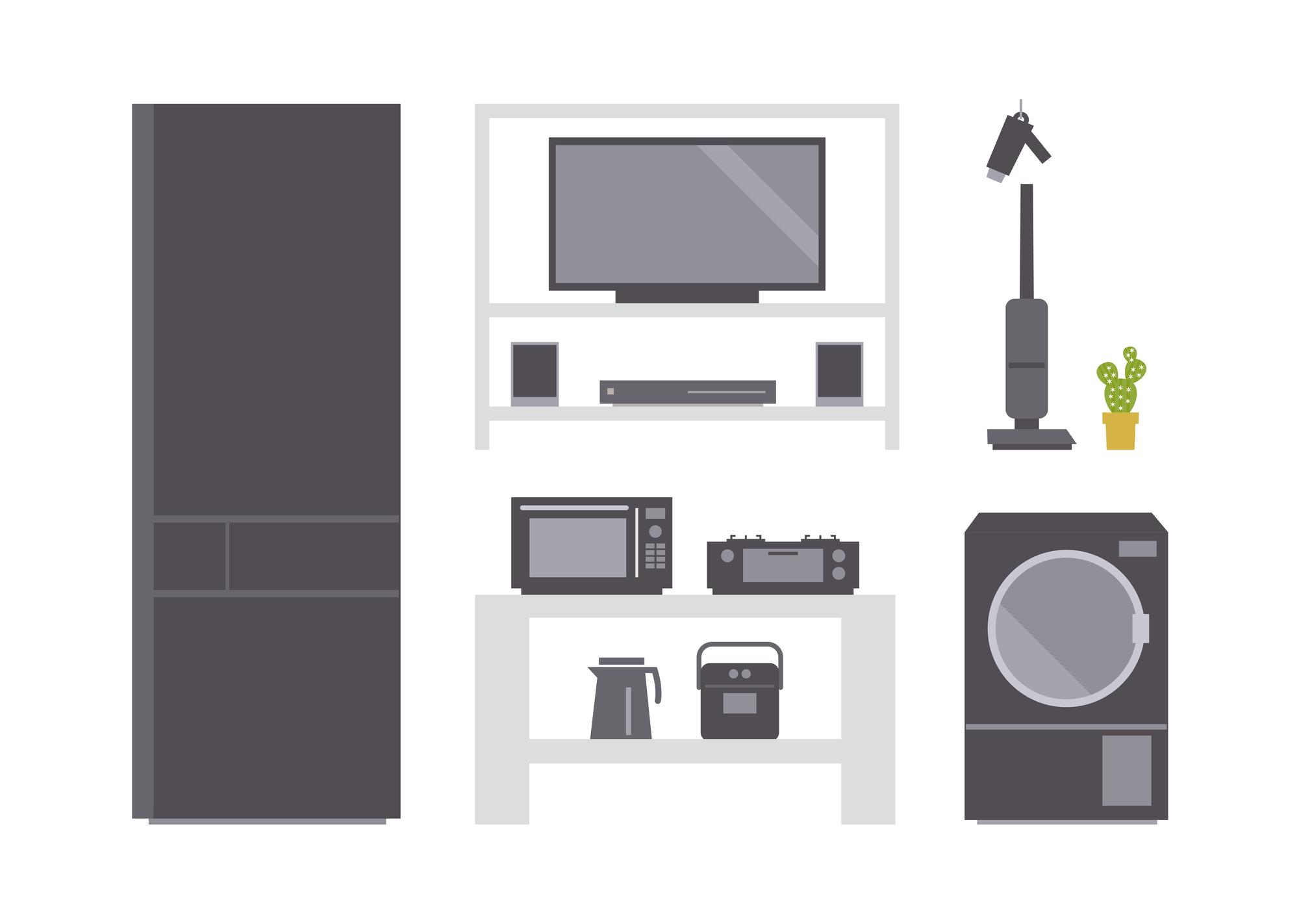 引越し時の電化製品の扱い方とは?梱包や処分方法を確認