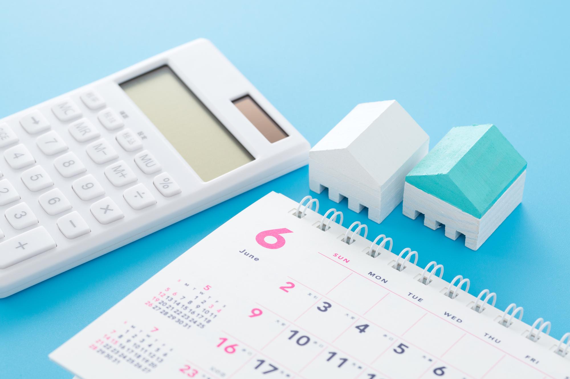 6月カレンダーのイメージ
