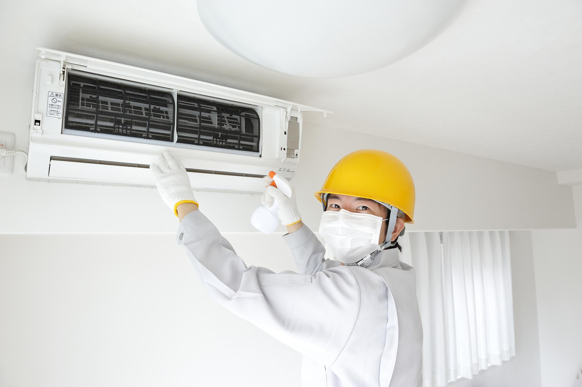 エアコンと清掃業者