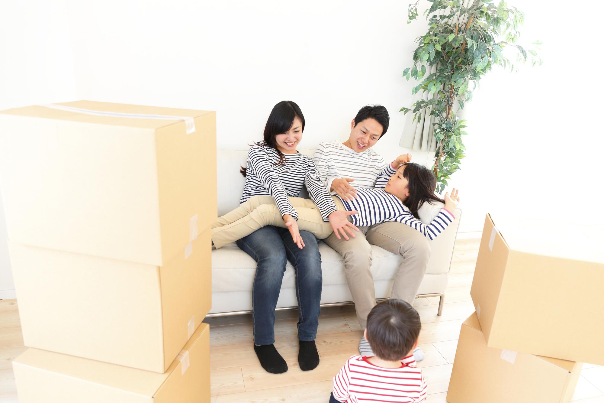 家族の引っ越しイメージ