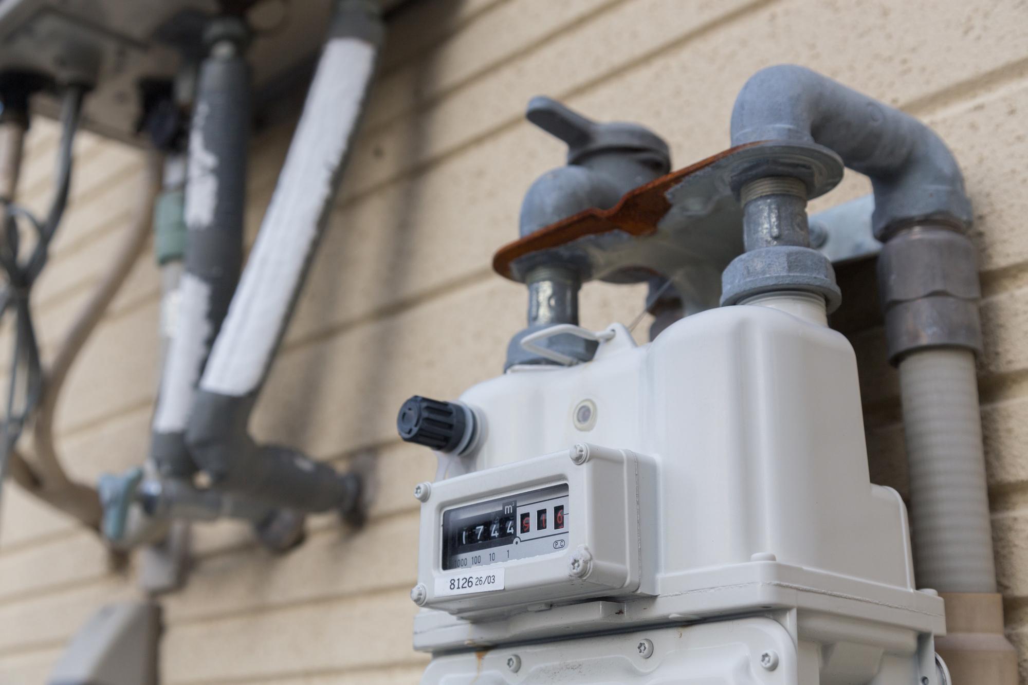 都市ガスのメーター