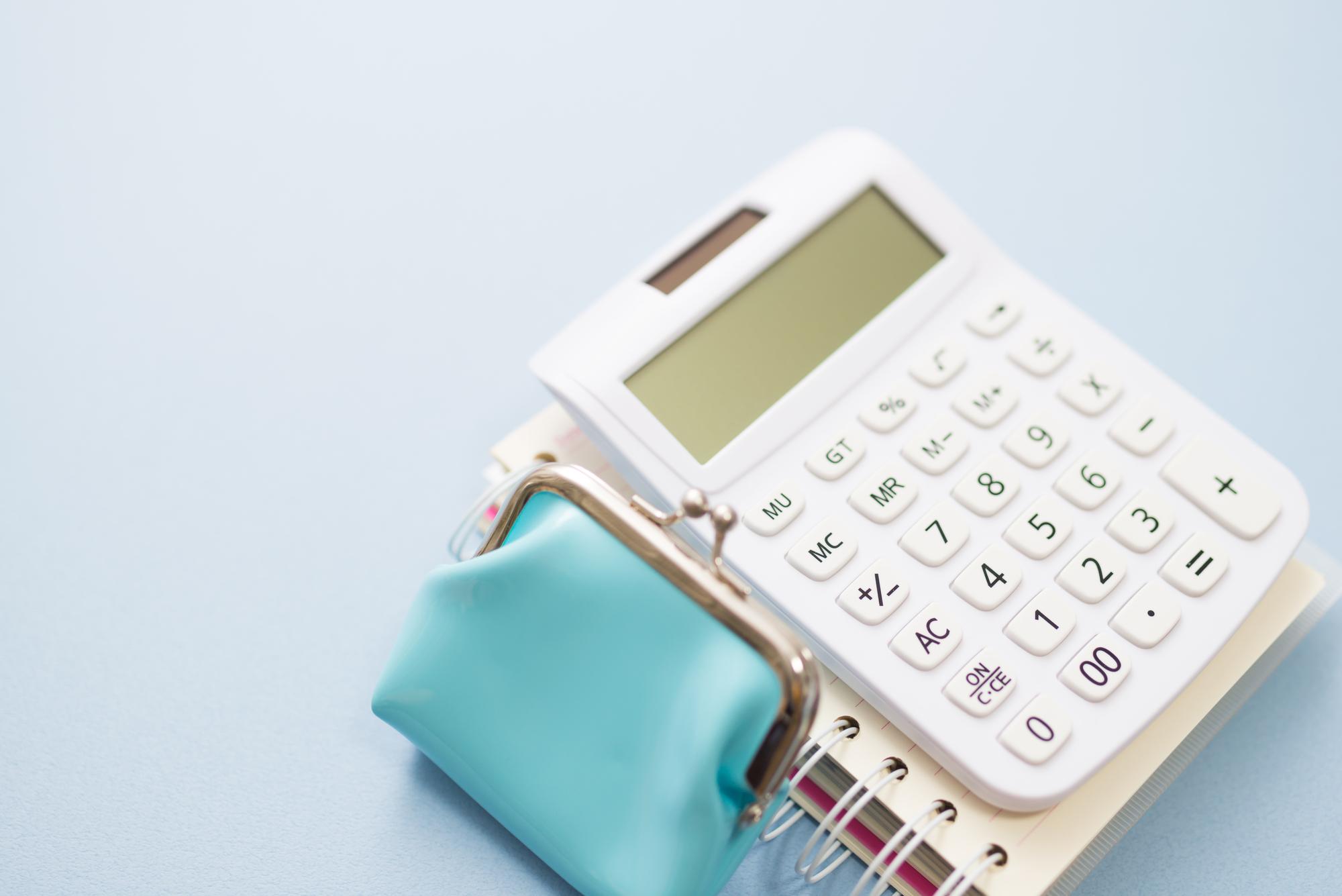 電卓と財布